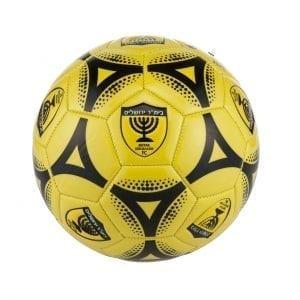 כדורגל מס' 5 בצבע צהוב עיטורים שחורים