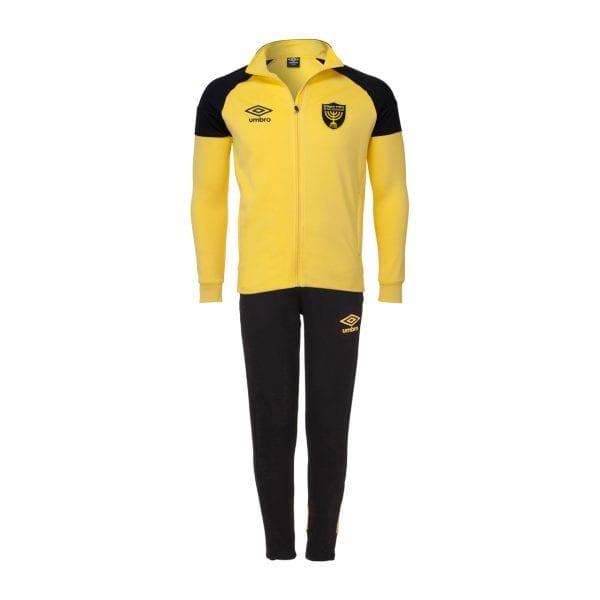 חליפת אימונית בצבע צהוב/ שחור