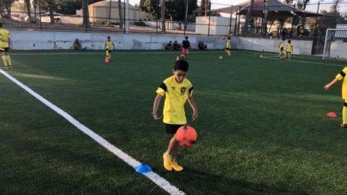 אימון בבית הספר לכדורגל שדות נגב