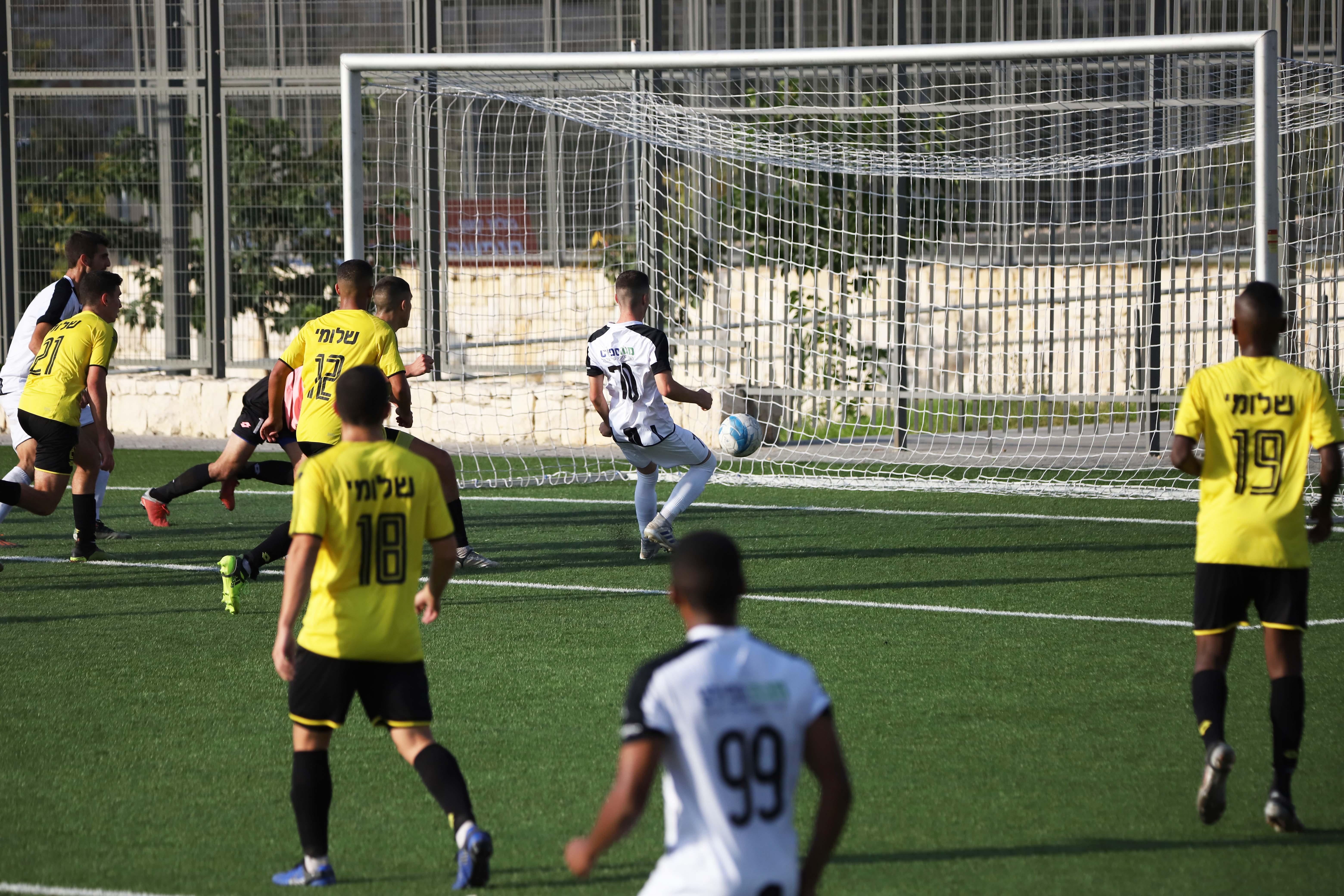 שחקני הנוער במשחק מול מכבי נתניה