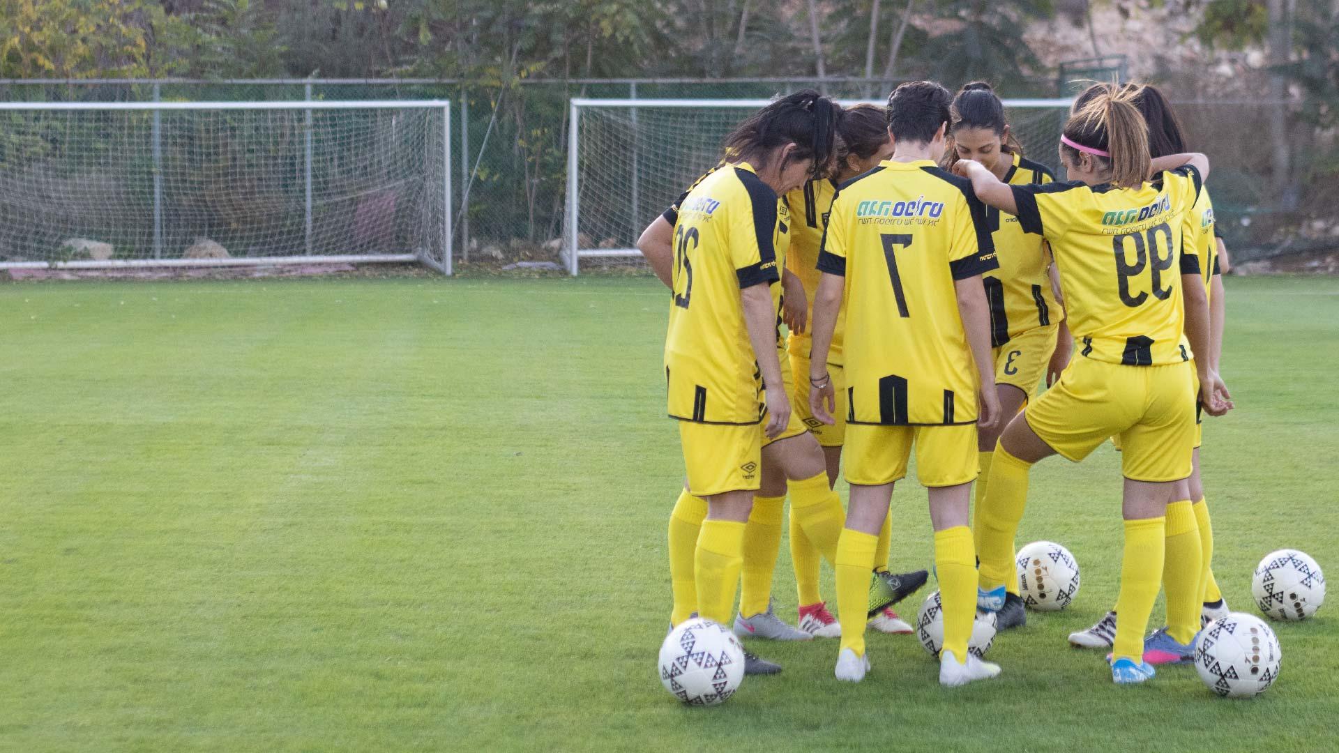 הקבוצה במהלך אימון